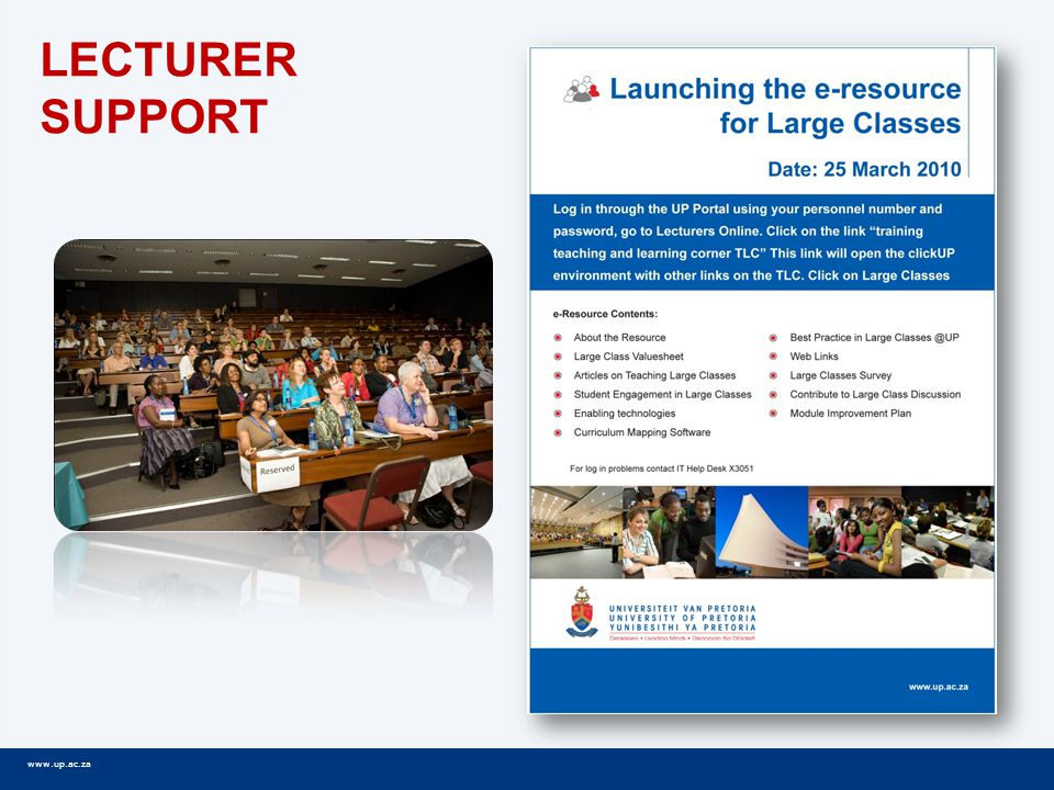 www.up.ac.za LECTURER SUPPORT