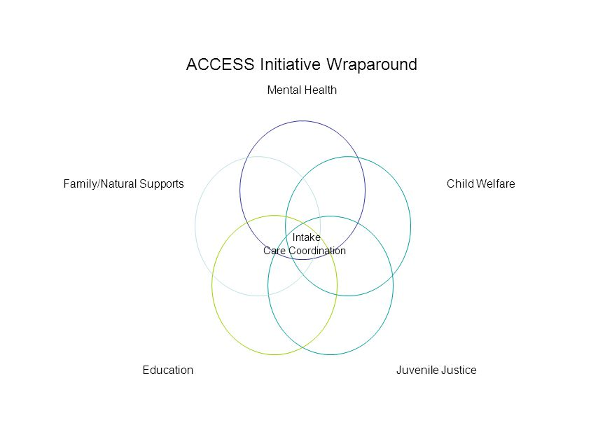ACCESS Initiative Wraparound Mental Health Child Welfare Juvenile Justice Education Family/Natural Supports Intake Care Coordination