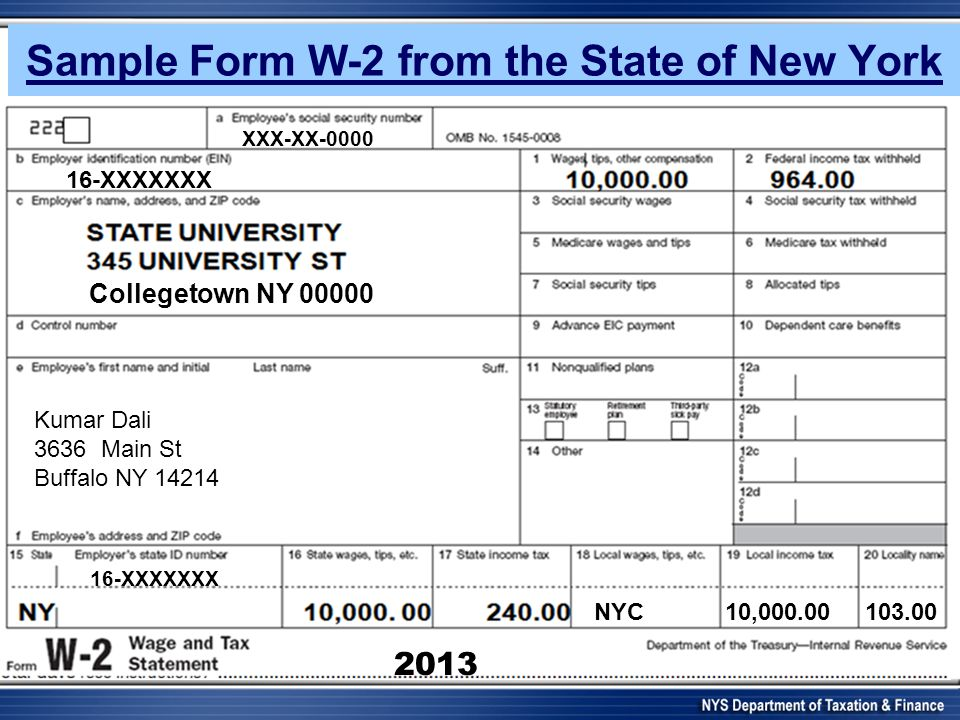 w2 form nys  Nyc10 Form 10