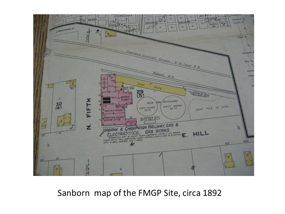 Sanborn map of the FMGP Site, circa 1892