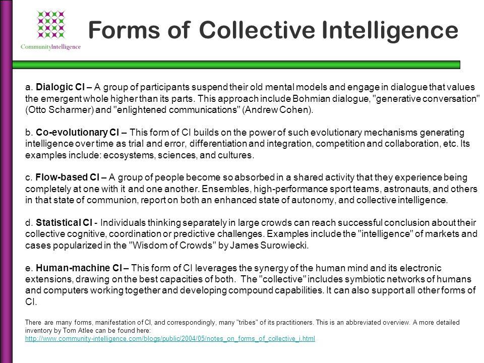 Source: Tom Atlee Partnership-based Model of Collective Intelligence