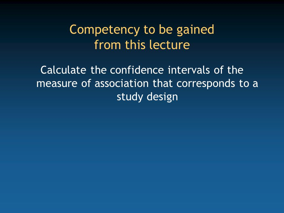 Cohort study for calculation of incidence density Incidence density cohorts