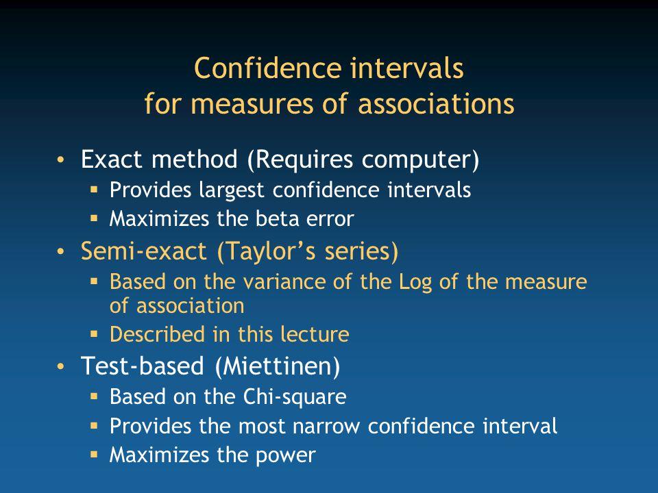 Key areas Cohort studies (cumulative incidence) Cohort studies (incidence density) Case control studies