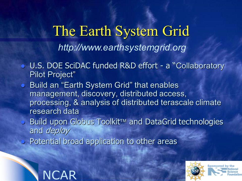 NCAR The Earth System Grid U.S.