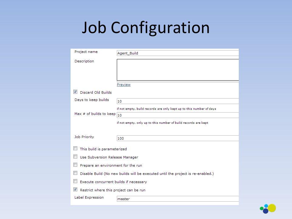 Job Configuration