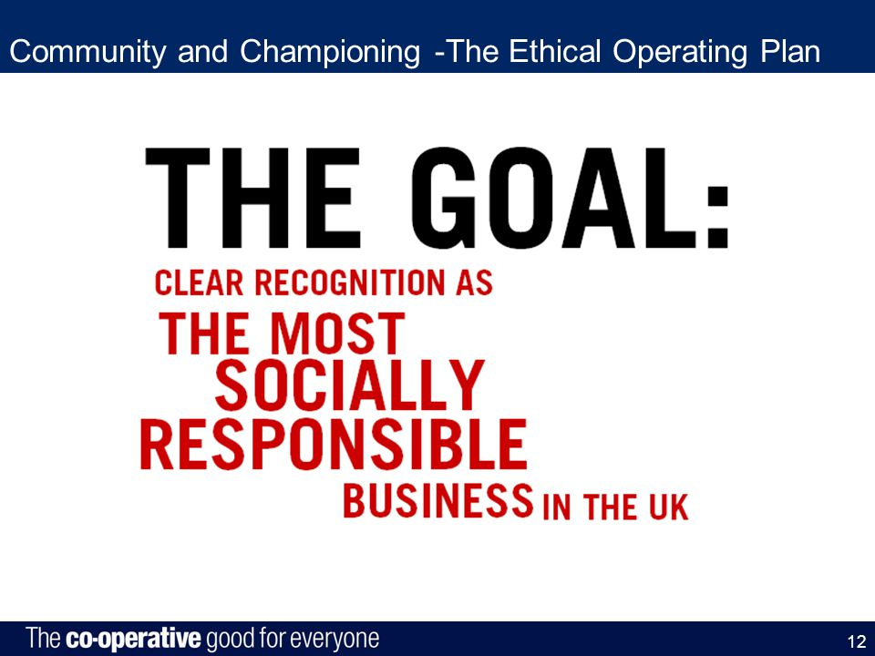 Community and Championing -The Ethical Operating Plan 12