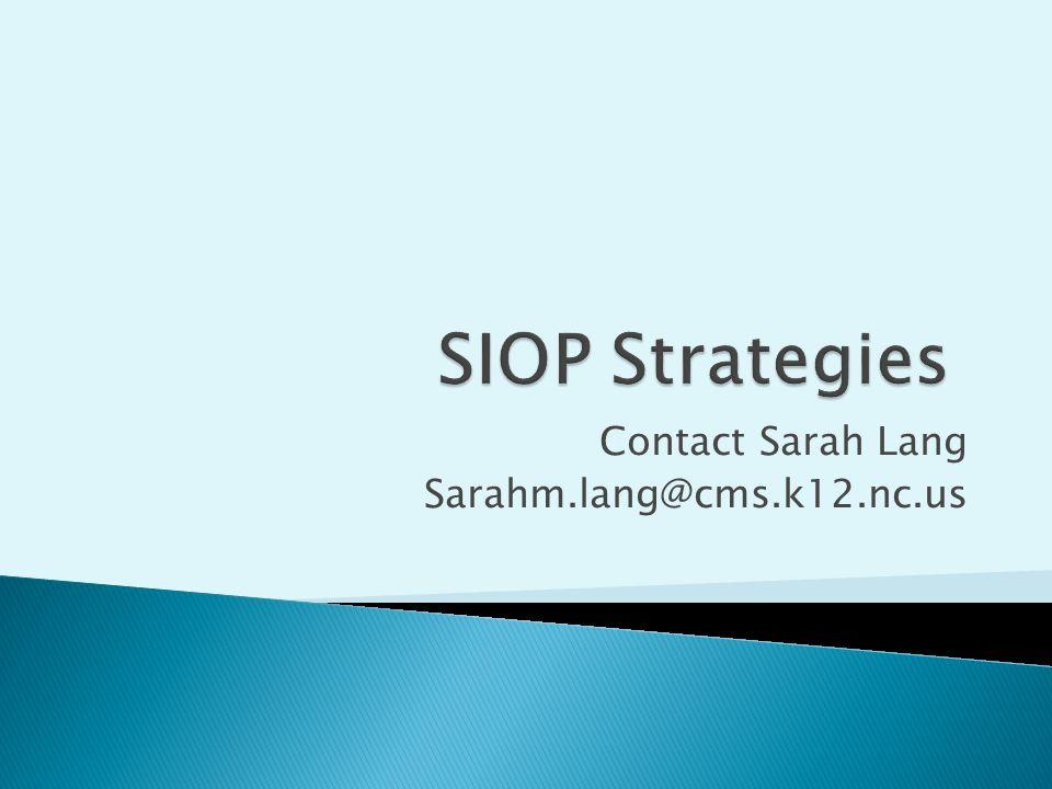 Contact Sarah Lang Sarahm.lang@cms.k12.nc.us