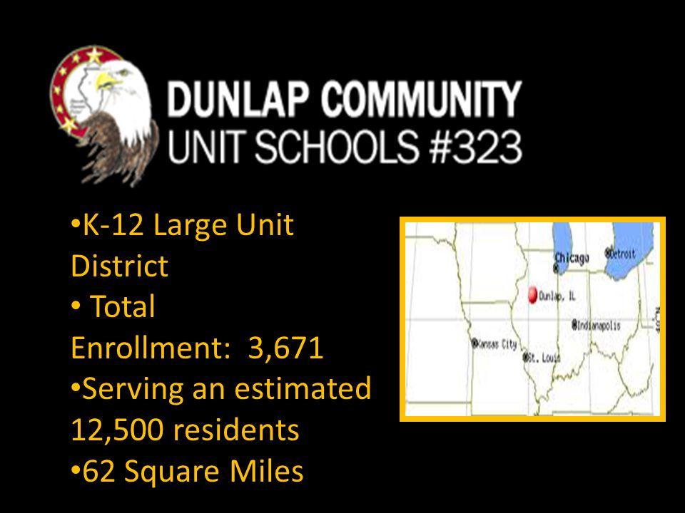 K-12 Large Unit District Total Enrollment: 3,671 Serving an estimated 12,500 residents 62 Square Miles