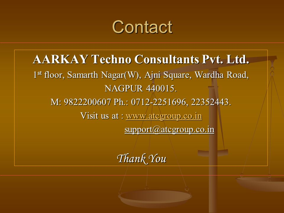 Contact AARKAY Techno Consultants Pvt.Ltd.