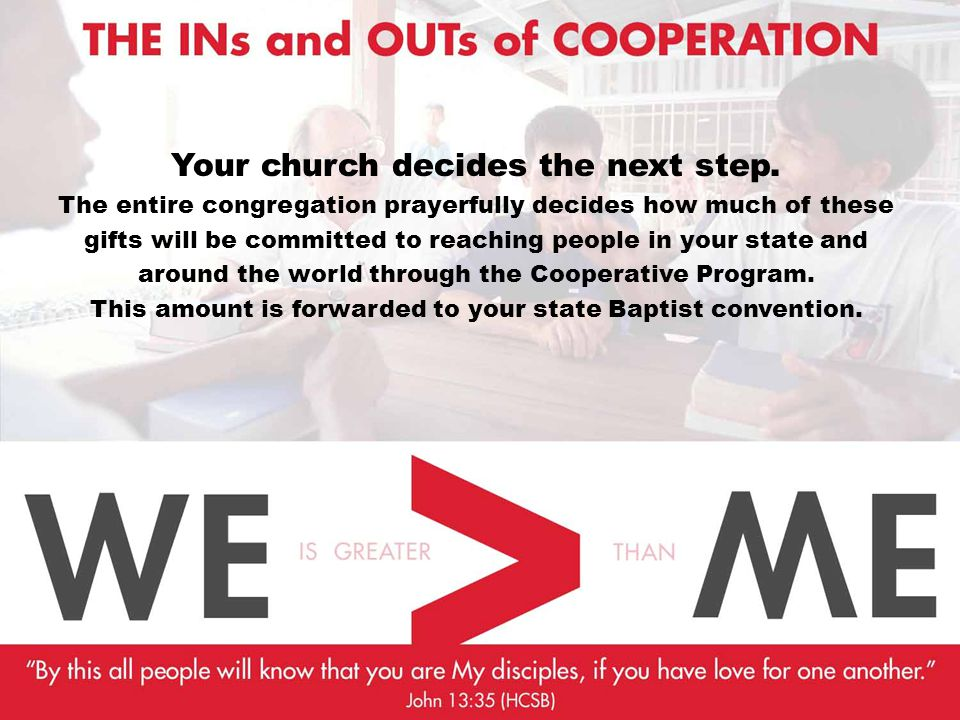 Your church decides the next step.