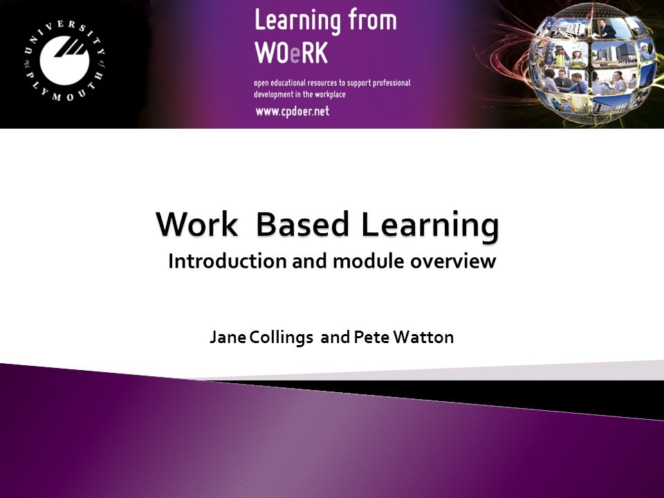 Jane Collings and Pete Watton Introduction and module overview