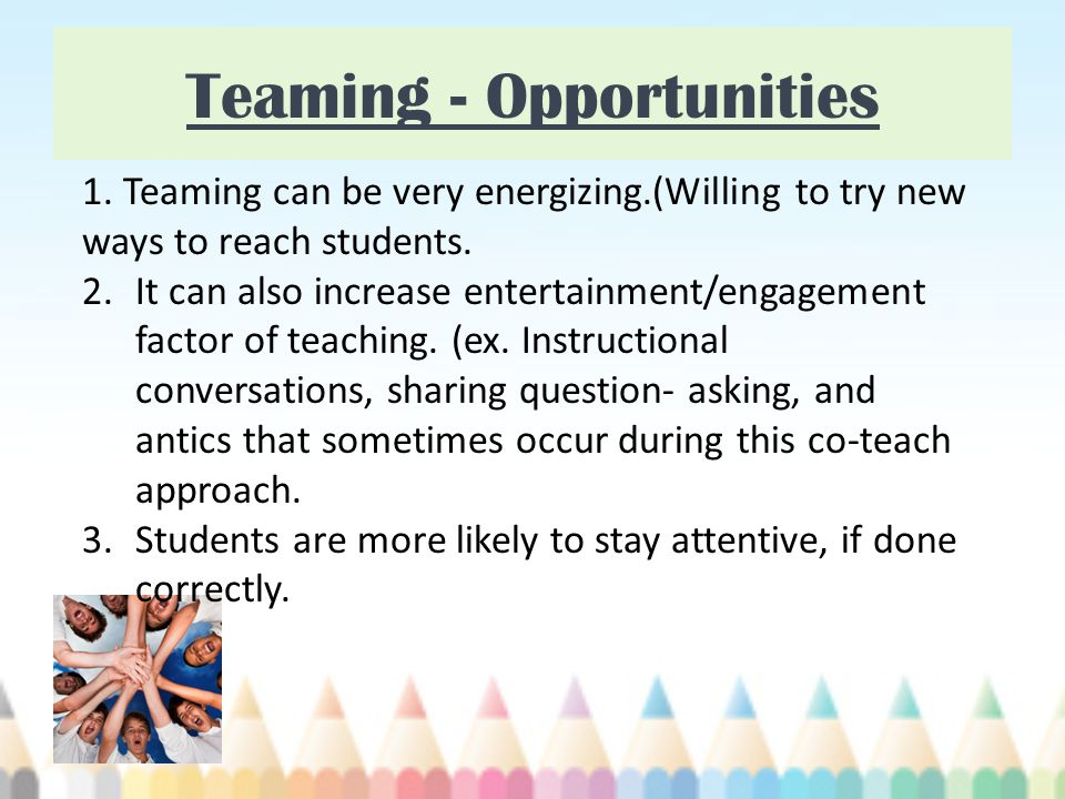 Teaming - Opportunities 1.