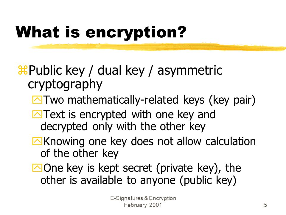 E-Signatures & Encryption February 20015 What is encryption.