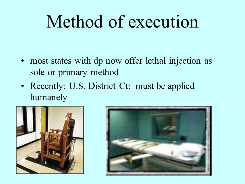 DP in CA Reinstated after the Gregg case Since then 13 executions Biggest death row in U.S.