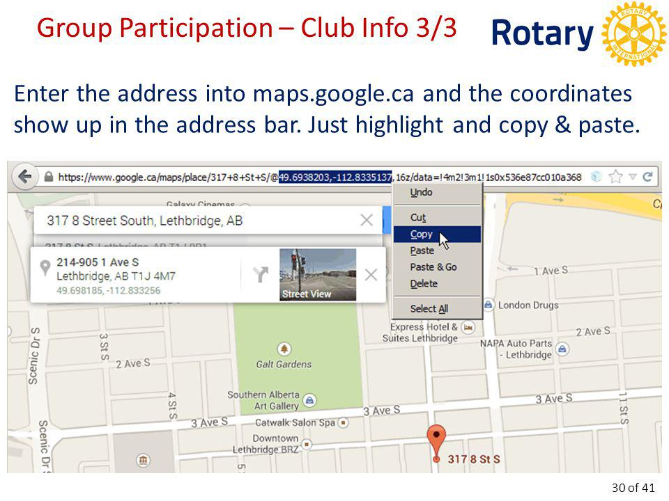 Enter the address into maps.google.ca and the coordinates show up in the address bar.