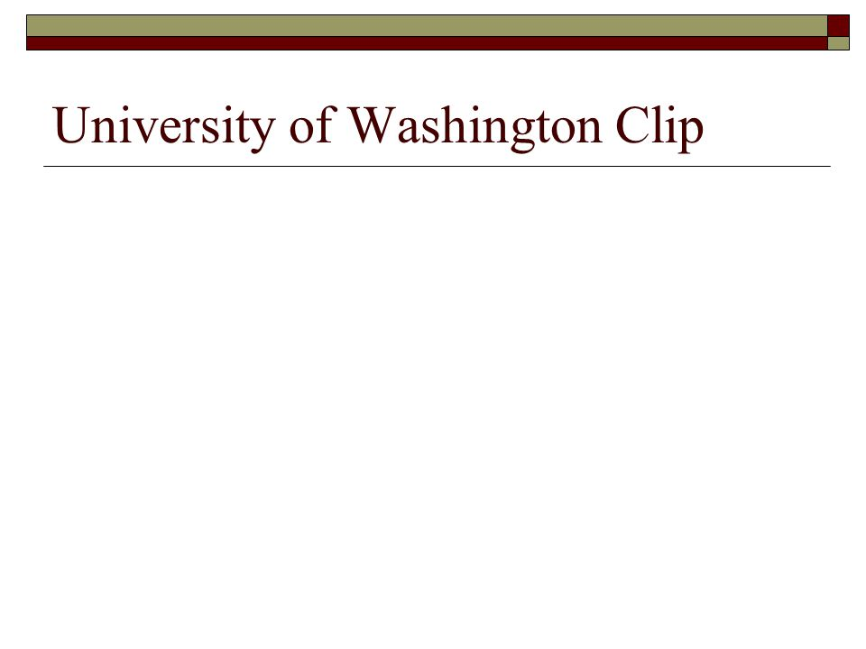 University of Washington Clip