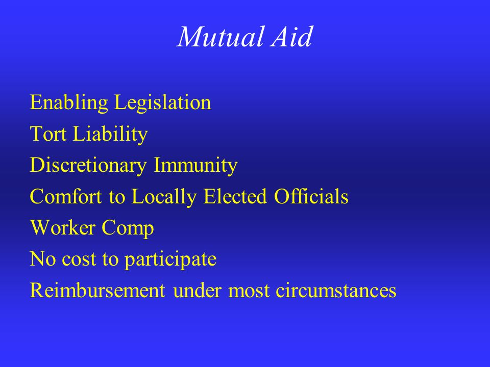 Mutual Aid The responsible local official in whose jurisdiction an incident has occurred shall remain in charge at such an incident.