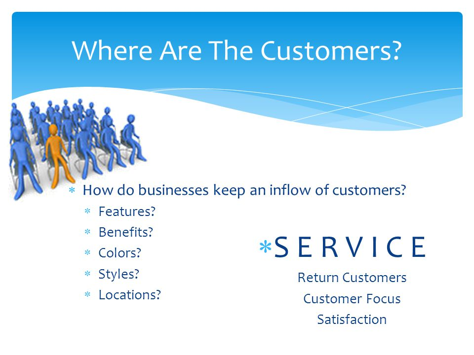 Where Are The Customers.  How do businesses keep an inflow of customers.