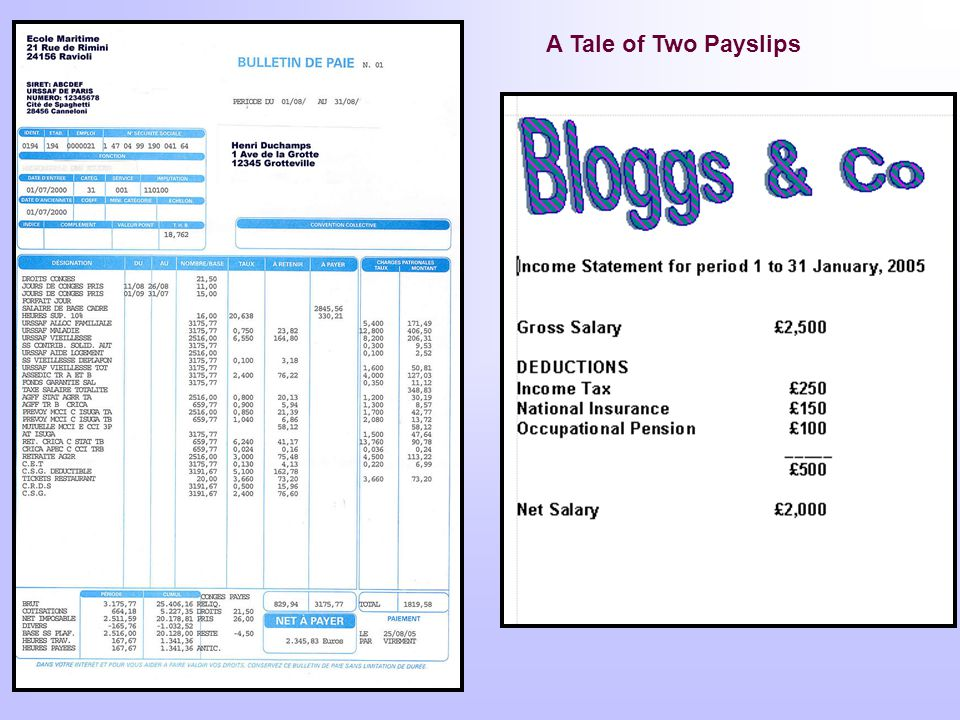 A Tale of Two Payslips