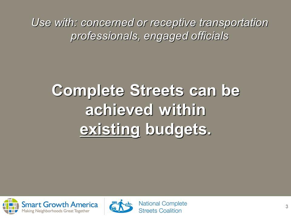 Colorado Springs, Colorado 14 Maintenance and operations activities: Repave 3% of road network each year Convert 4 auto lanes to 2 bike lanes + 3 auto lanes City of Colorado Springs