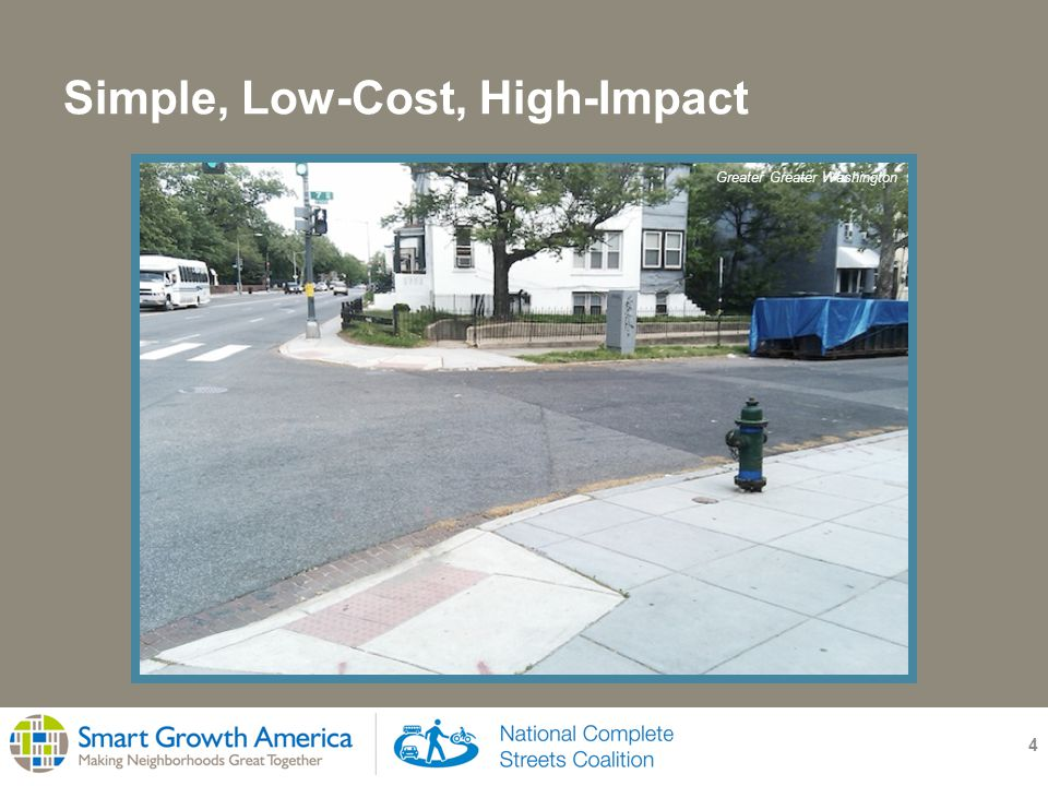 Simple, Low-Cost, High-Impact 5 Greater Greater Washington