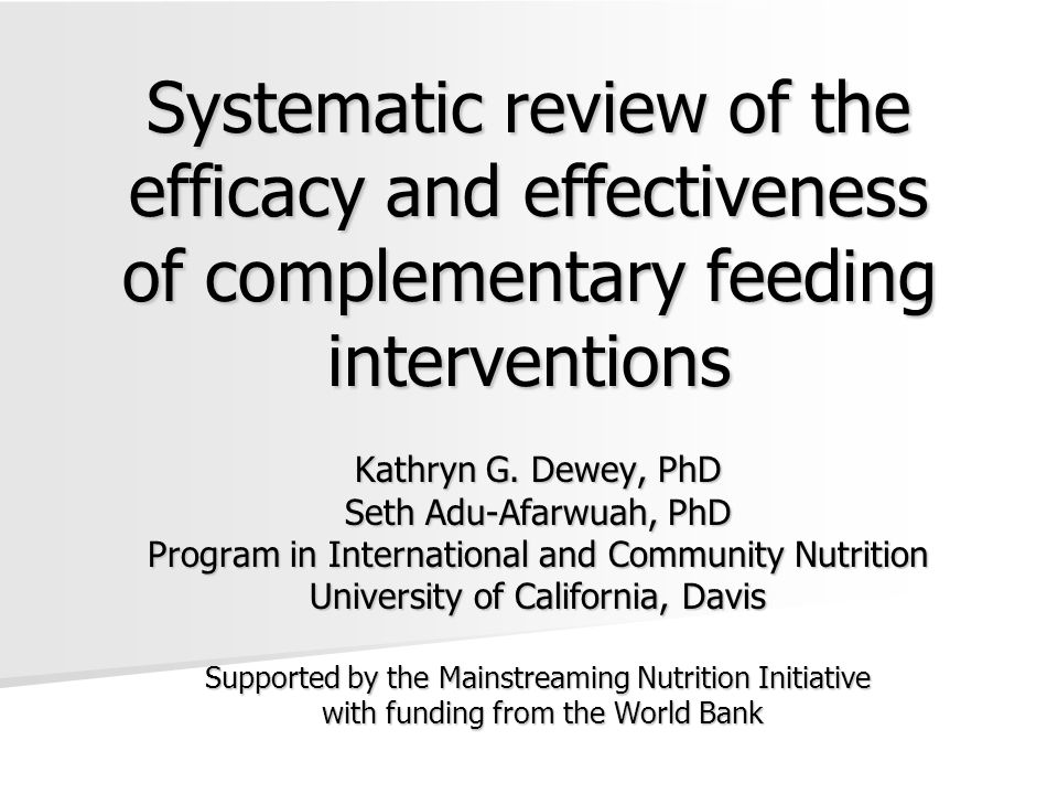 Conclusions – Micronutrient intake Very difficult to achieve adequate Fe intake from local foods without fortification, at 6-12 mo Very difficult to achieve adequate Fe intake from local foods without fortification, at 6-12 mo Fortification increased Fe intake by 5-11 mg/d Fortification increased Fe intake by 5-11 mg/d Can achieve adequate Zn and Vit A intakes from local foods, but requires careful attention to dietary choices Can achieve adequate Zn and Vit A intakes from local foods, but requires careful attention to dietary choices Fortification can help ensure Zn and Vit A intakes when nutrient-rich local foods are costly or unavailable (e.g.