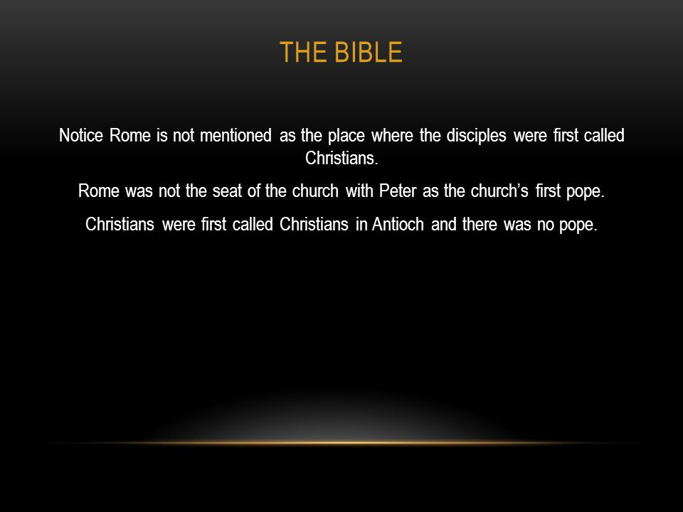 THE BIBLE The Bible, and once again, the King James Bible, is truly the inspired and inerrant Word of God.