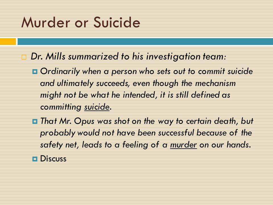 Murder or Suicide  Dr.