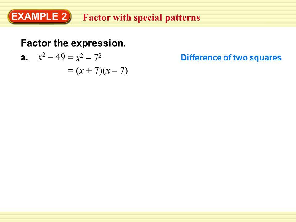 EXAMPLE 2 Factor ax 2 + bx + c where c < 0 Factor 3x 2 + 20x – 7.