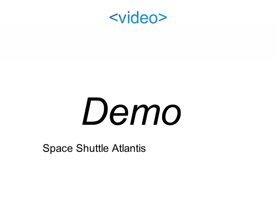 Space Shuttle Atlantis Demo
