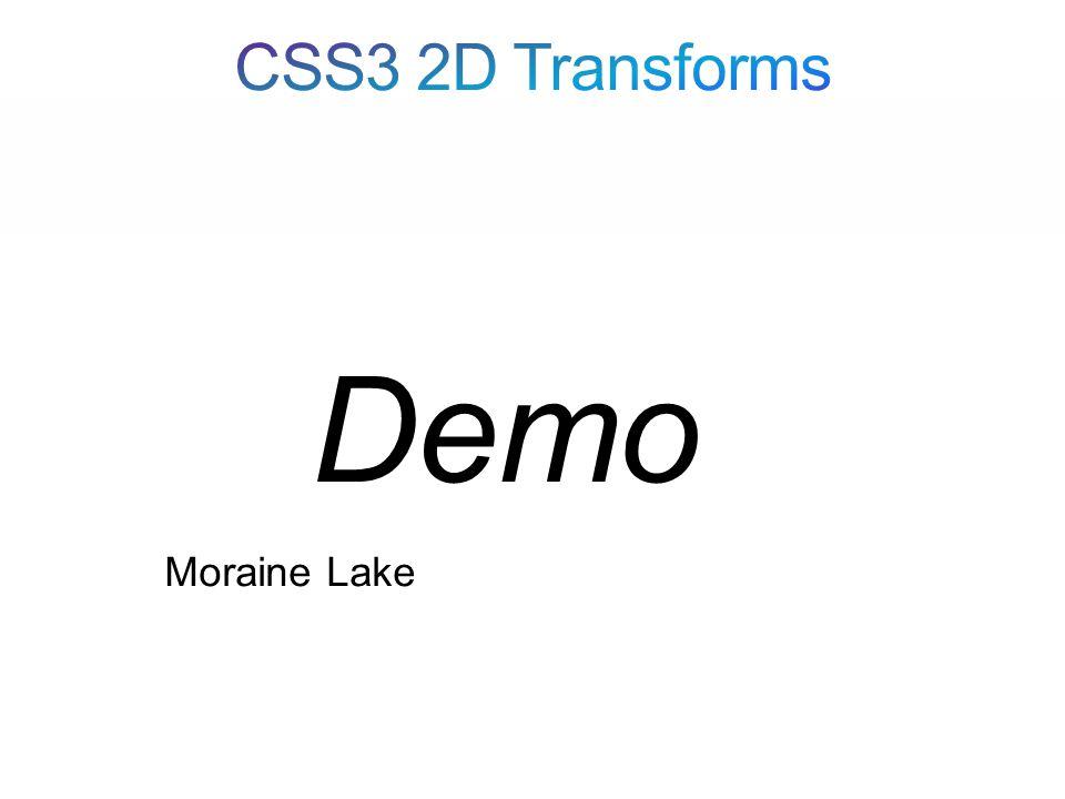 Moraine Lake Demo