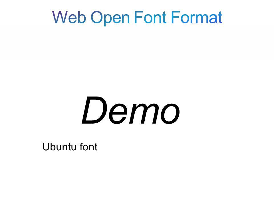Ubuntu font Demo