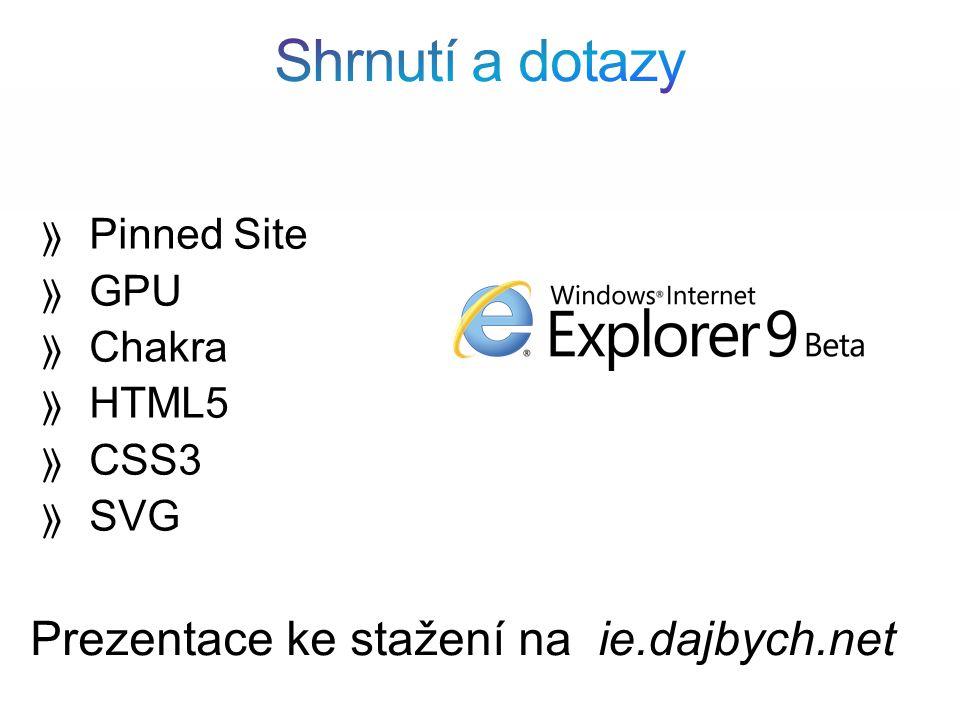  Pinned Site  GPU  Chakra  HTML5  CSS3  SVG Prezentace ke stažení na ie.dajbych.net