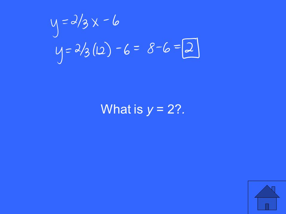 What is y = 2 .