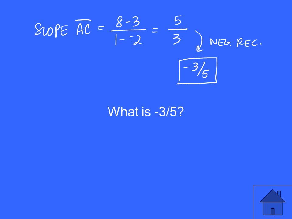 What is -3/5?
