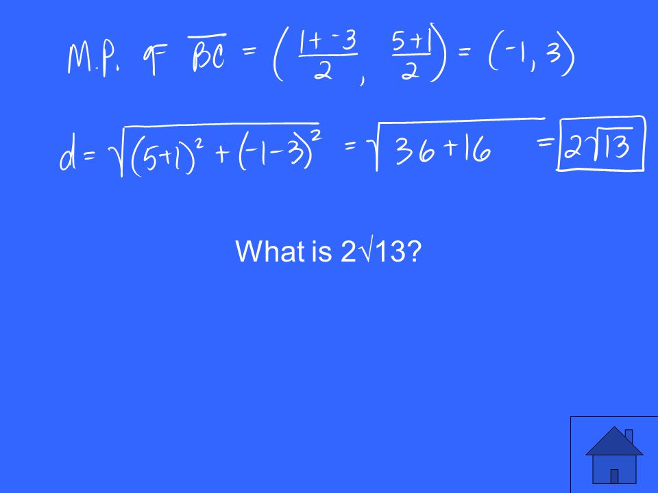 What is 2√13?