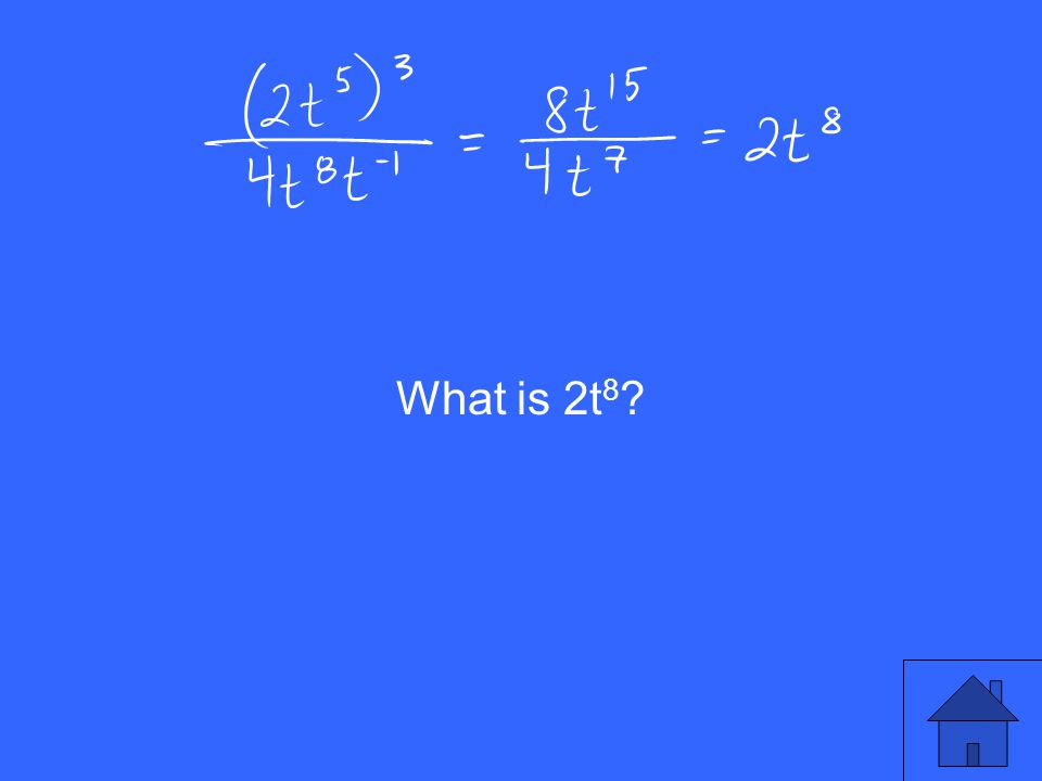 What is 2t 8 ?