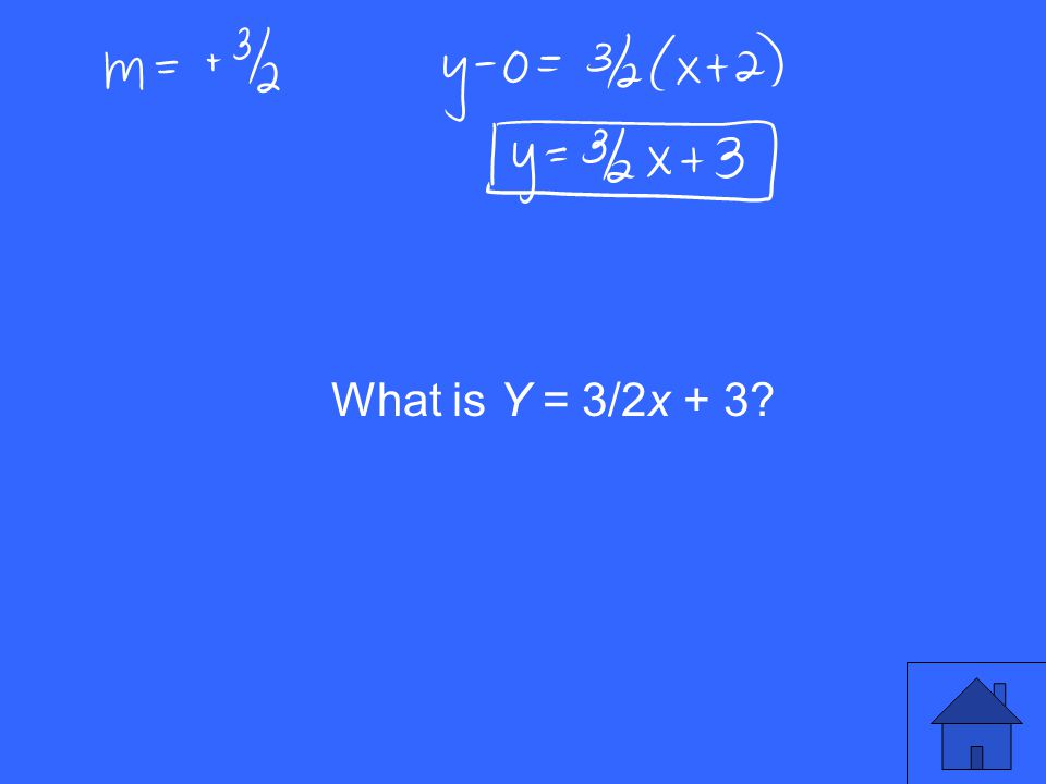 What is Y = 3/2x + 3?