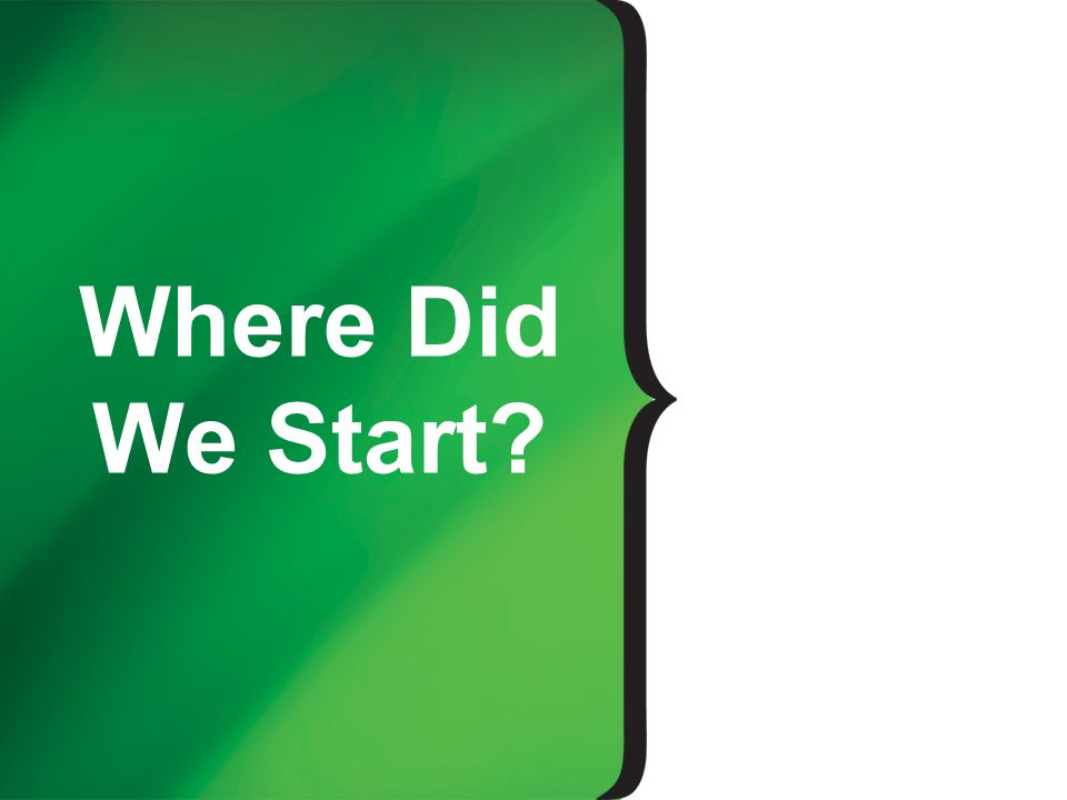 Where Did We Start
