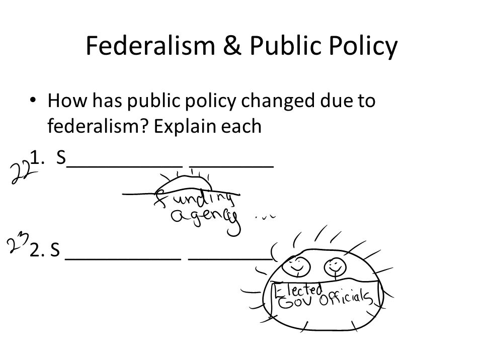 Federalism & Public Policy How has public policy changed due to federalism.
