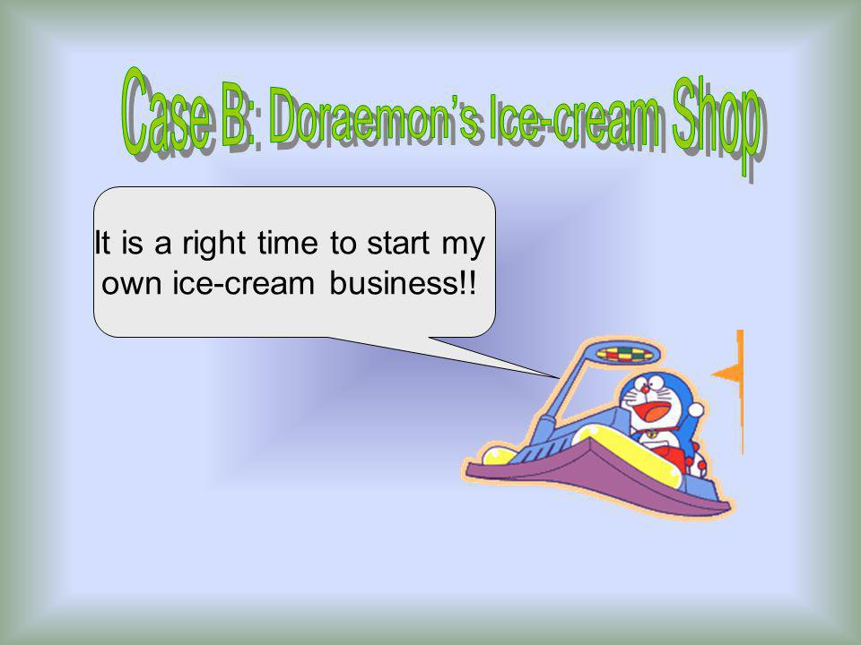 It is a right time to start my own ice-cream business!!