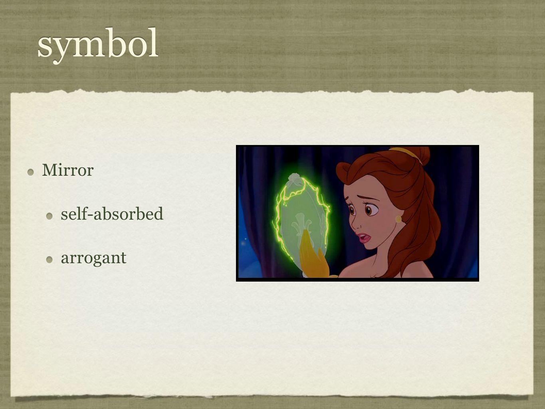 symbol Mirror self-absorbed arrogant Mirror self-absorbed arrogant