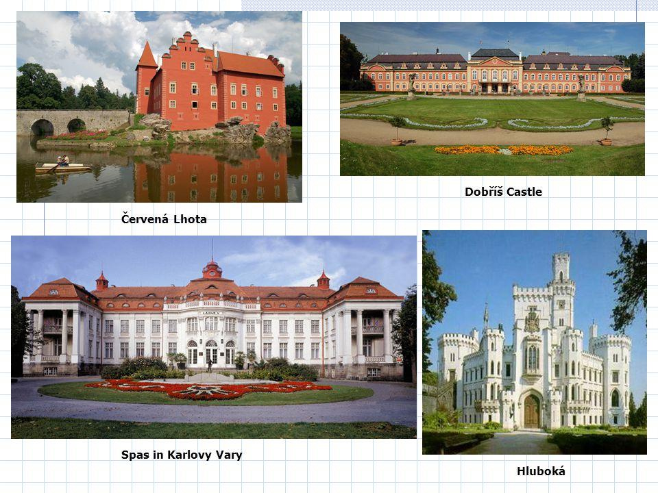 Spas in Karlovy Vary Dobříš Castle Červená Lhota Hluboká