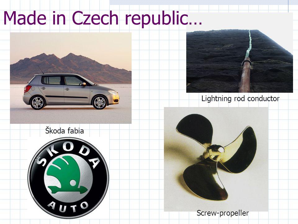 Made in Czech republic… Škoda fabia Lightning rod conductor Screw-propeller