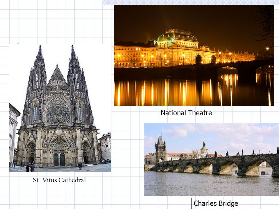 National Theatre Charles Bridge St. Vitus Cathedral