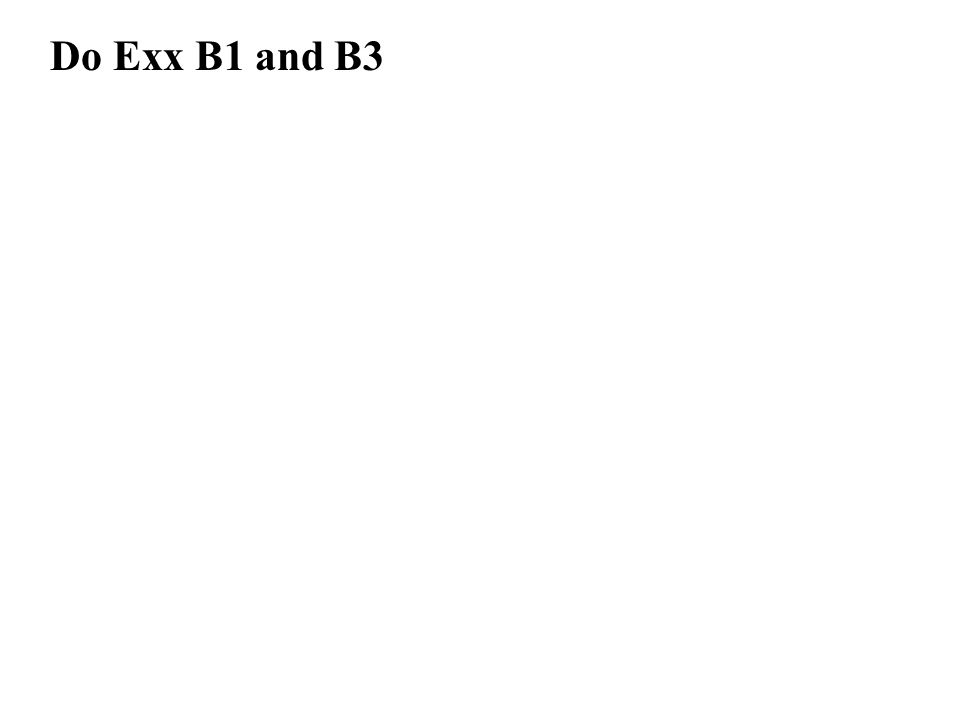 Do Exx B1 and B3
