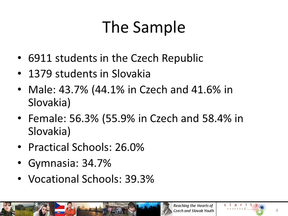 Reaching the Hearts of Czech and Slovak Youth Just 10% of Czech students indicated that the church is a credible: inappropriately manipulating members is the most common opinion Hypocrisy is the most common opinion of Slovak Students Credibility is a minority opinion even among the Target Credibility is barely a majority opinion among Evangelicals 25 Perspective on the ChurchTargetNominalEvangelicalCzechSlovakia Churches are not trusted for sexual scandals 7.5%8.1%4.5%7.2%10.7% Churches teach rules they do not obey 14.7%19.6%7.1%15.4%22.6% Interested only in property and political authority 6.1%6.9%3.2%9.2%11.7% Miss real needs of contemporary people and society 10.1%14.1%2.6%15.8%9.4% They brain wash believers and limit their freedom 1.9%8.7%1.3%23.2%13.1% Not trusted for violence in history and nowadays 9.8% 5.1%8.8%7.3% The church is a trustworthy institution 39.0%24.3%53.2%9.0%15.3% INSIGHT 4: The church has a credibility crisis with the youth