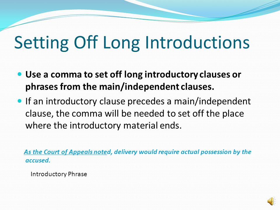Coordinating Conjunctions Use a comma before a coordinating conjunction joining two main/independent clauses. There are seven coordinating conjunction