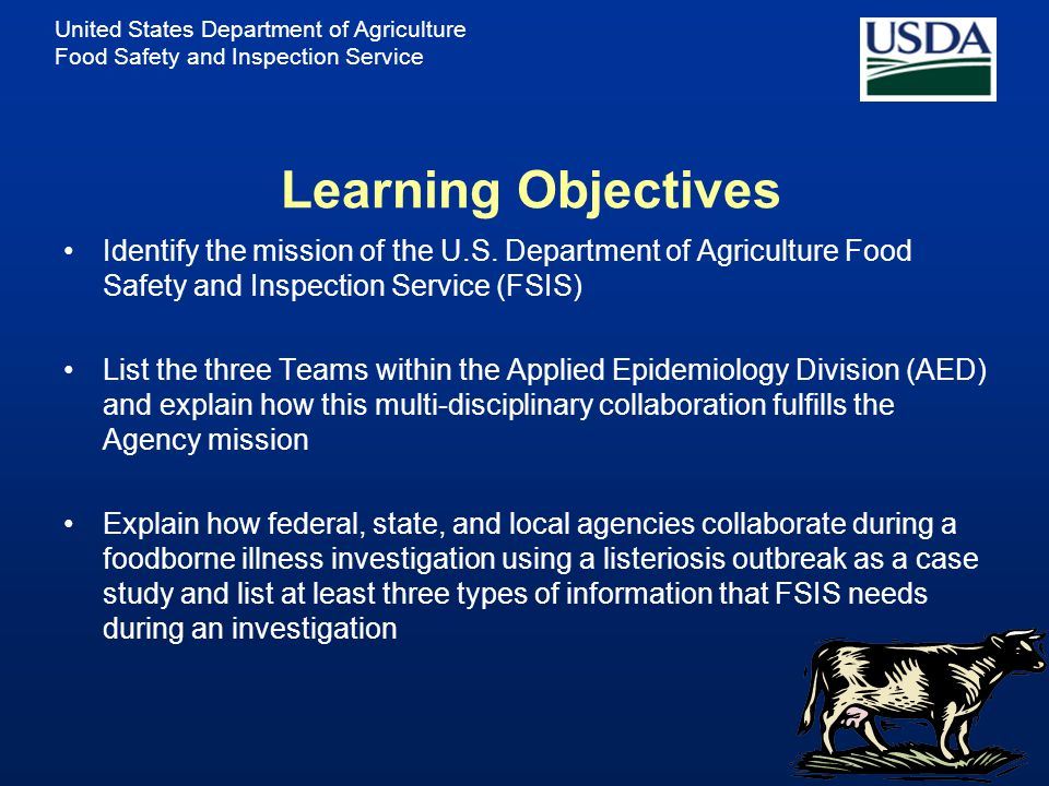 United States Department of Agriculture Food Safety and Inspection Service Collaborative Efforts of Federal, State, and Local Public Health Partners i