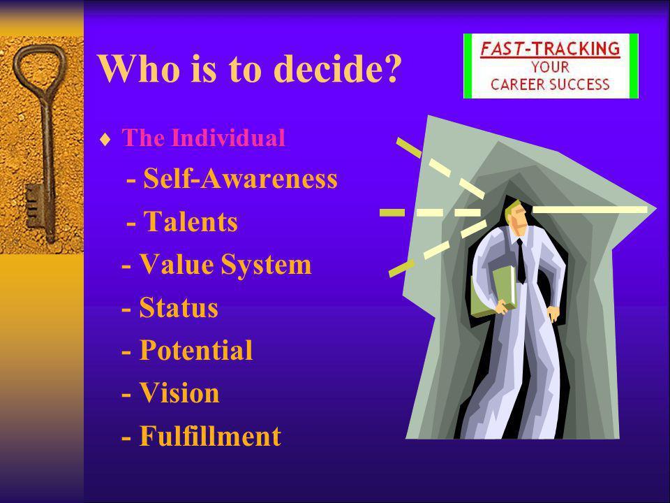 Decision Making Process…  Foundation Stage - Parents - Teachers - Relatives - Friends - Experiences - Values  Building Stage - Parents - Role Models